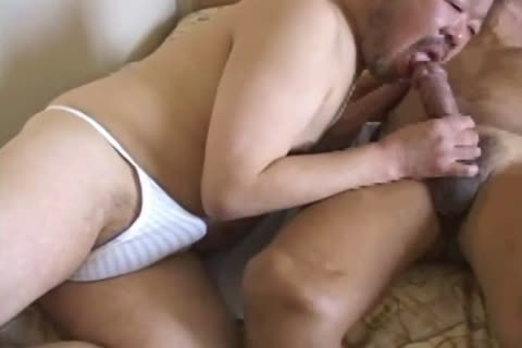oriental old chap Has His biggest 10-Pounder Sucked By tasty Daddy Bear