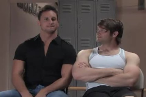 Two Muscle homosexual males thraldom bang In Gym