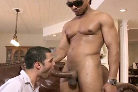 black HUNK TEARS WHITE man A new butthole WITH HIS giant PACKAGE