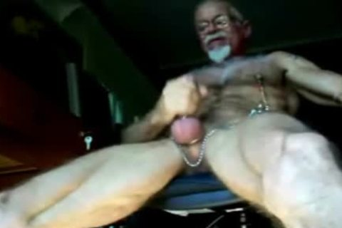 old non-professional dudes Jerking Themselves Off