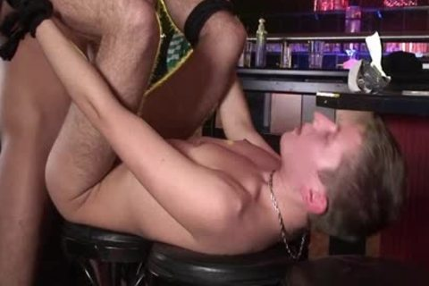 Two young homosexual twinks bang In A Bar