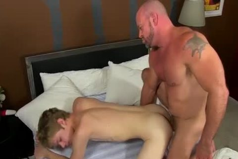 concupiscent Daddy Casey Williams Gives Anthony A Wake Up fucking