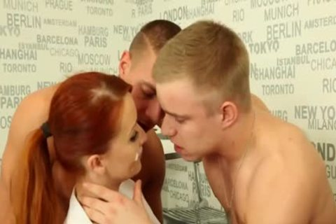 filthy bisexual guys banging With A Redhead