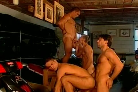 Muscled Biker dudes Are plowed coarse And naked At This gay Bar