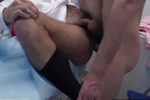 large dong Doctor anal invasion And spunk flow