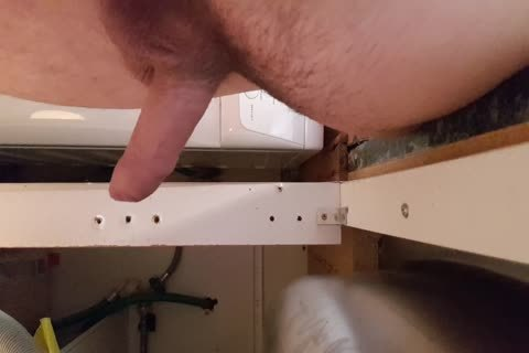Washing The Dishes in nature's garb. Floppy Precum penis Wobble