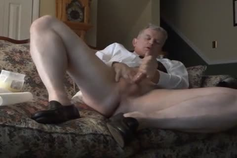 Business Daddy Works His hole And strokes him