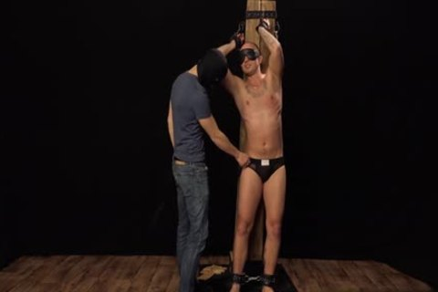 Tattoo homosexual spanking With cock juice flow