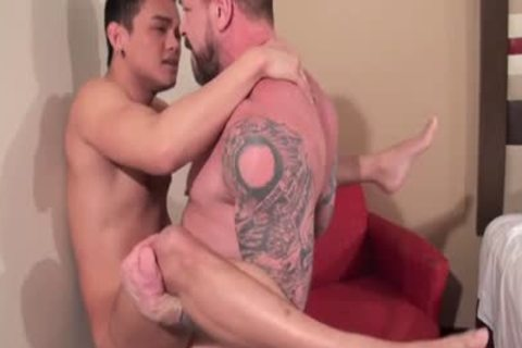asian Daddy butthole sex With semen flow