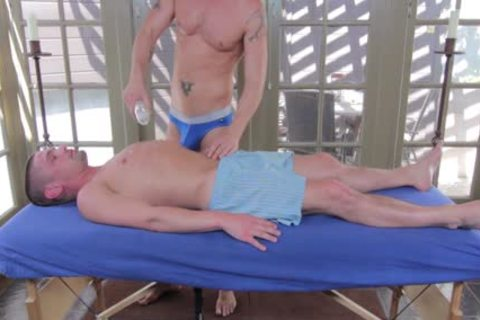 GayRoom Initimate Massage Ends In twinks banging arse
