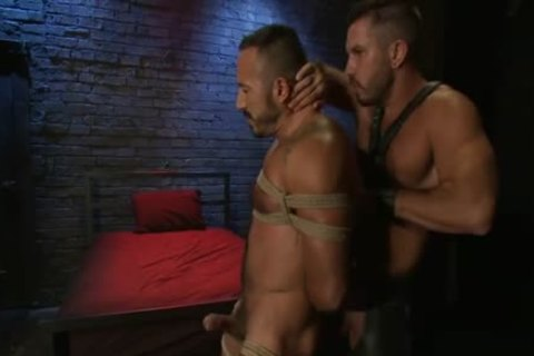 naughty homosexual tied And anal cumshot