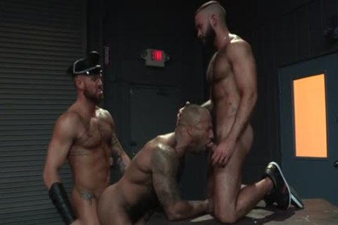 Muscle Bear three-some And ball cream flow