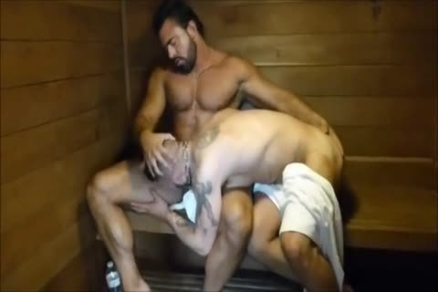 MM Two hairy Muscle Hunks plow raw At The Gym