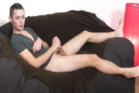 slim sexy Uncut twink Wanks His ramrod