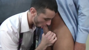 Car Jerk - Jake metallic with Dominic Pacifico anal plow