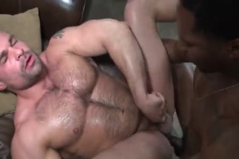 Six guy Interracial orgy