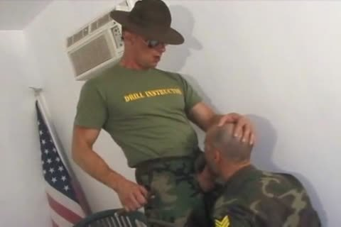Soldier Serves His Sergeant (deepthroad, Balls, fucking)