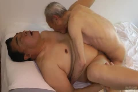 Japanese chunky Daddy Sex With biggest cock grandad
