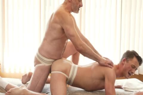 Silver Daddy Massages young guy