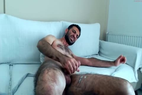 bushy Hunks stroking On webcam
