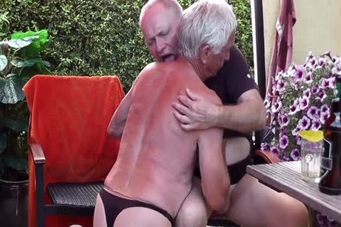 Games In pantyhose & Pissing Off together In The Garden