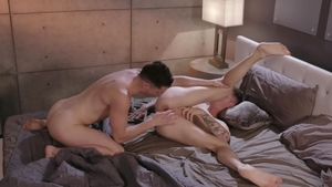 IconMale.com: Brown hair Tristan Hunter gets ass licked