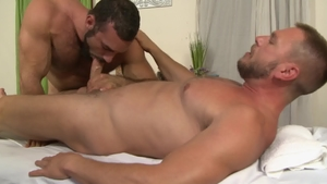 IconMale.com: Muscled Jaxton Wheeler touching big dick