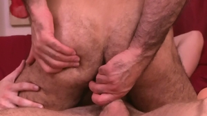IconMale: Calvin Banks with hairy Adam Russo blowjob cum